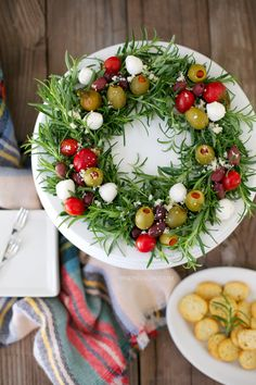 Antipasto edible Holiday Wreath
