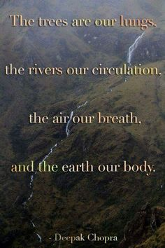 Deepak Chopra... why staying in touch with nature is vital to our life force.