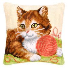 02. Набор  для вышивания крестиком VERVACO. Клубок и котенок PN-0009077