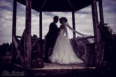 silhouette, wedding, couple, love