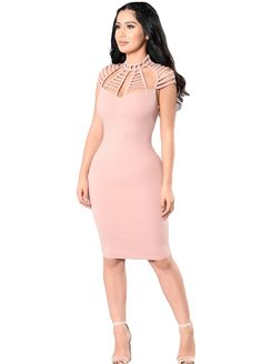 9b57b678e2c Cut-Out Details Bodycon Midi Dress Midi Dress Dresses Sexy Lingeire