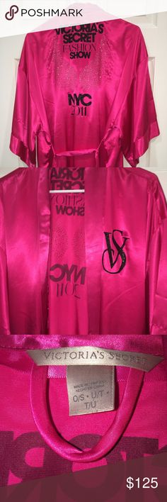 Victoria's Secret fashion show robe Excellent condition. Price is firm as I am in no rush to sell this gorgeous piece. Selling for $115 on Ⓜ️ Victoria's Secret Intimates & Sleepwear Robes