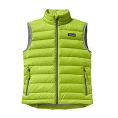 Patagonia Boys\' Down Sweater Vest - Peppergrass Green PSS