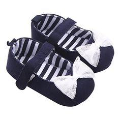 Voberry Baby Girls Soft Soled Bowknot Crib Moccasins Canvas Mary Jane Flat Shoes 612 Month Black >>> Read more reviews of the product by visiting the link on the image. (This is an affiliate link) #BabyGirlShoes