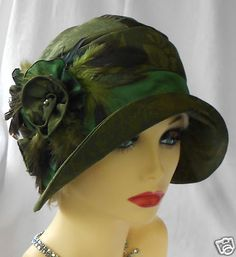 1920s Vintage Inspired Brocade Cloche Hat Flapper Great Gatsby Downton   eBay