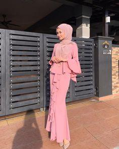 Slit dress: Likes, 15 Comments - Shop at . Hijab Prom Dress, Hijab Gown, Dress Outfits, Muslim Fashion, Modest Fashion, Hijab Fashion, Fashion Dresses, Hijab Collection, Batik Fashion