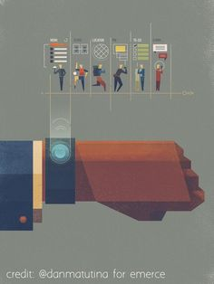 Wearables illustration by Dan Matutina — Designspiration Note: simple/flat design with texture. Flat Illustration, Graphic Design Illustration, Creative Illustration, Motion Design, Graphisches Design, Design Logo, Chart Design, Layout Design, Affinity Designer