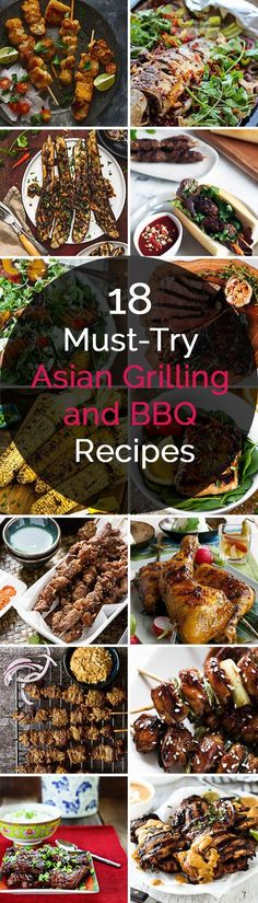 18 Must-Try Asian Grilling and BBQ Recipes. For more great pins go to @KaseyBelleFox