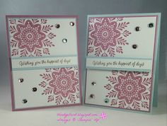 Windy's Wonderful Creations: Swap Card for WCMD in Atlanta!, Stampin' Up!, Frosted Medallions