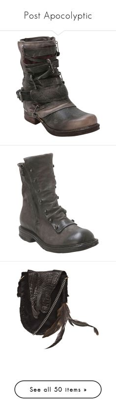 """""""Post Apocolyptic"""" by mxbatfiend on Polyvore featuring PostApocolyptic, shoes, boots, ankle booties, footwear, grey, gray ankle boots, grey boots, zip ankle boots and gray ankle booties"""