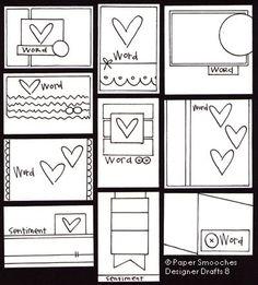 Kim Hughes card sketches