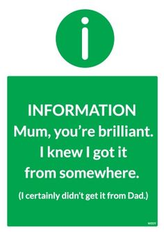 Funny Mothers Day Cards - You're Brilliant available at Scribbler.com http://www.scribbler.com/mothers-day-cards/youre-brilliant