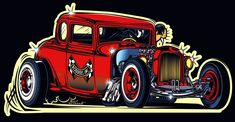 Quickly and simply build a personalized website to showcase your creative work with Adobe Portfolio. Now included free with any Creative Cloud subscription. Painting Logo, Cool Car Drawings, Black White Tattoos, Garage Art, Automotive Art, Cartoon Art, Hot Rods, Cool Cars, Classic Cars