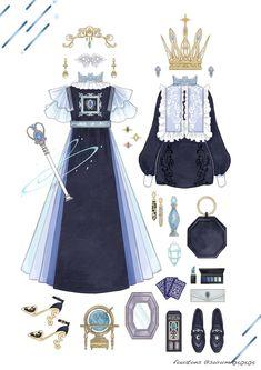 34 Best Ideas For Fashion Drawing Clothes Deviantart Vintage Fashion Sketches, Fashion Design Drawings, Fashion Vintage, Drawing Fashion, Anime Outfits, Cute Outfits, Lolita Mode, Estilo Lolita, Illustration Mode