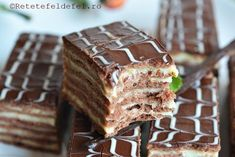 Romanian Desserts, Romanian Food, Cookie Recipes, Dessert Recipes, Bulgarian Recipes, Sweets Cake, Pastry Cake, Kakao, Holiday Baking