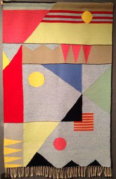 Bauhaus textile by Benita Koch Palm Springs Modernism Show 2014