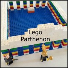 Ancient Greek activities: vases, columns, Lego Parthenon and a rap rhapsody about Homer. Easy fun Ancient Greek Activities.
