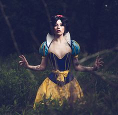 This one is amazing!  High quality 4 part PVC Snow white costume by ArtificeClothing, $300.00