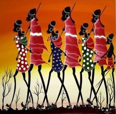 African Art Paintings MASAIS