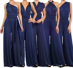Infinity Convertible Jumpsuit Navy Multiway by PassionFruitApparel