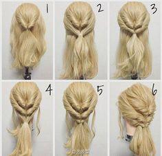 bridal Brautfrisur bridal hairstyle - in 2020 Easy Formal Hairstyles, Braided Hairstyles, Medium Hair Styles, Natural Hair Styles, Long Hair Styles, Natural Hair Ponytail, Natural Hair Transitioning, Pinterest Hair, Hair Dos
