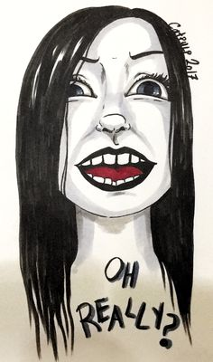 Original artwork done with markers  #ohreally #blackandgrey #illustration #markerdrawing