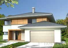 Projekt domu ALEKSANDRA wersja Modern A (Horyzont Autorskie Projekty Domów)