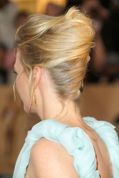 Short hairstyles: Loose french pleat  - CosmopolitanUK #frenchtwisthairstyle