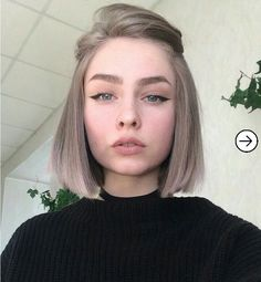 New Fashionable Bob Hairstyles to Inpire Your Next Cut - ., frisuren frauen New Fashionable Bob Hairstyles to Inpire Your Next Cut - . Cute Hairstyles For Short Hair, Girl Short Hair, Bob Hairstyles, Short Hair Styles, Formal Hairstyles, Bob Haircuts, Makeup For Short Hair, Short Hair Side Part, Cute Short Hair