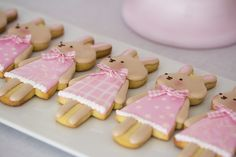 Postreadicción galletas decoradas, girly rabbits cookies