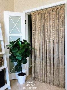 Large Macrame Door Curtains of 2 or 1 Panels, Macrame Window Curtain, Large Macrame Wedding Alter, Macrame Wall Hanging, Boho Altar Backdrop - Curtain For Door Window, Door Curtains, Blinds Curtains, Bamboo Crafts, Macrame Curtain, Curtains With Rings, Lounge Areas, House Painting, Windows And Doors