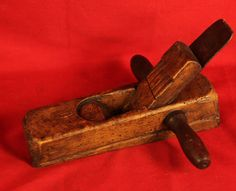 Antique Two Handed Bench Plane Dated 1841.