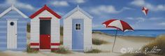 Image result for paintings of beach huts