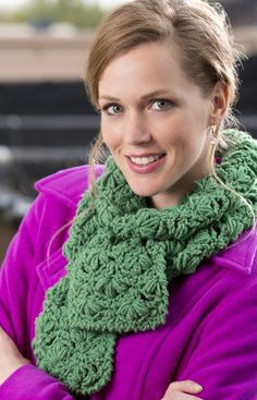 free crochet scarf pattern via 24 Free #Crochet Patterns and Other Awesome Things in Crochet (a #NatCroMo Update)