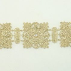 Gold Metallic Lace trim by the yard - Bridal wedding Lace Trim embroidery trim wedding fabric Millinery accent motif scrapbooking crafts lace for baby headband hair accessories dress bridal accessories by Annielov trim 129 ** Visit the image link more details.