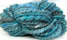 HandSpun Yarn bulky thread ply Sea Smoke Blues 36 by kittygrrlz, $18.00