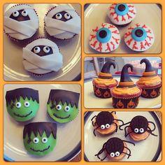 Halloween Cupcakes Halloween Food For Party, Halloween Trick Or Treat, Halloween Cupcakes, Holidays Halloween, Halloween Ideas, Haloween Cakes, More Cupcakes, Cupcake Ideas, Frankenstein