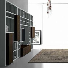 Contemporary Italian Design 'Speed 25' Bookcase. Beautiful design, high quality wood. My Italian Living