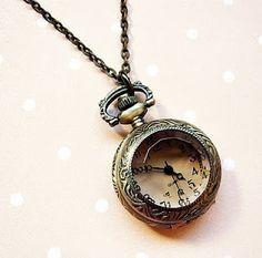 vintage pocket-watch necklace