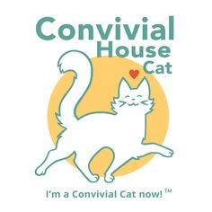 Convivial House Cat Logo « conkberry | art and design for people who love animals  #cat #product #logo #design #art #prance #happy #cats #behavior #small #shop #seller #branding #marketing #business