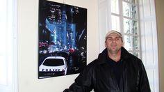 Peinture sur place et exposition de l'artiste peintre Régent Bilodeau à Paris (Richerenche en 2010)