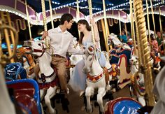 Carousel Engagement Photo at Disney World | Stout Photography | From: Blog.theknot.com
