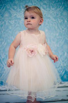 Silk Top With Soft Tulle Skirt Baby Flower Girl Dress