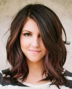 shoulder-length brunette hairstyles with layers for round faces | Red Brown Hair Color in addition Asian Men Hairstyles Short Hair ...