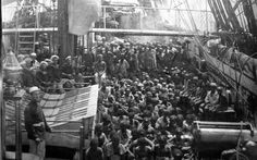 Rare photo of enslaved Africans while still aboard the ship. Date unknown.