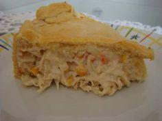 Receita de Torta de frango com creme de leite e mussarela - Tudo Gostoso