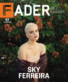 """Sky Ferreira on the cover of """"Fader"""""""