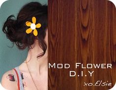 Mod flower hairpiece. plus also I adore her hair. please let my hair be like this?