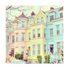 Pastel Houses House ❤ liked on Polyvore featuring backgrounds, pictures, photos, pics, pastel, filler and wallpaper