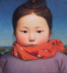 'PORTRAIT OF TONG TONG' by Xue Mo (b1966 In Inner Mongolia, China; based In Canada)